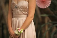 our bride Melanie's wedding vintage, pastel, garden, bridesmaid dress @ jenniferregan.com.au