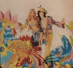 The Fool were a Dutch art/design/music collective who had a tremendous impact on London psychedelic scene between 1967 and Alth. Hippie Music, Hippie Man, Hippie Chick, Beatles Art, The Beatles, 60s And 70s Fashion, Vintage Fashion, Psychedelic Fashion, Psychedelic Art
