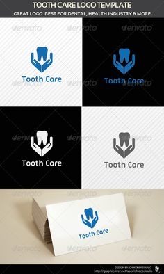 Buy Tooth Care Logo Template by chiccosinalo on GraphicRiver. Tooth Care Logo Template is a great abstract logo design that can be used for dental health, medical, hospital relate. Dental Clinic Logo, Dentist Logo, Dental Humor, Dental Art, Dental Office Design, Logo Design Template, Logo Templates, Dental Office Decor, Medical Logo