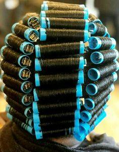 Natural Hair Tips, Natural Hair Styles, Long Hair Styles, Wet Set, Bouffant Hair, Perm Rods, Roller Set, Very Long Hair, Curlers