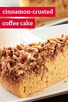 Cinnamon-Crusted Coffee Cake –  There's cake you have with coffee. And then there's this recipe for moist, cinnamon-crusted coffee cake, made with coffee, coconut, and walnuts.