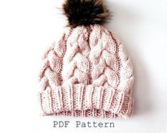 Crochet Baby Hat Pattern and Crochet Bootie Pattern Baby Baby Knitting Patterns, Outlander Knitting Patterns, Pattern Baby, Hat Patterns To Sew, Crochet Patterns, Tote Pattern, Bonnet Crochet, Crochet Beanie Pattern, Motifs Beanie