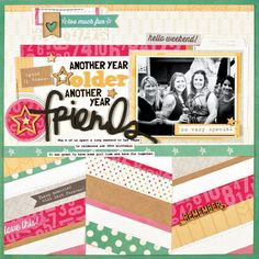 Scrapbook & Cards Today - Celebrate Good Times - Another Year Older by Nicole Nowosad