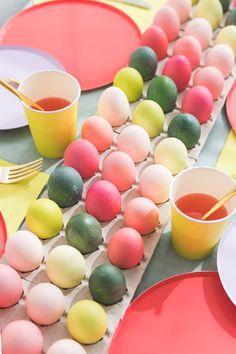 Dyed Easter Egg Runner Tablescape