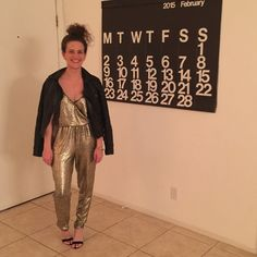 Topshop Gold Jumpsuit Worn once, for 2 hours. Amazing statement piece! Will double check size when I get home. Fits like an XS or 2. Topshop Pants Jumpsuits & Rompers