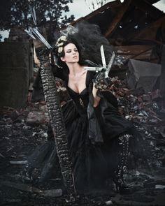 Scissorhands by Joanie D, via Behance #fashion #editorial #black #dark #gothic #scissorhands