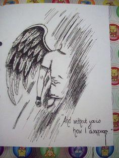 male fallen angel drawing | dark angel male 1 by lichtenstrange traditional art drawings portraits ...