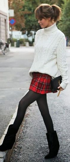 a chic way to wear plaid