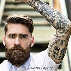 #menhairstyletop #toupe #hair #hair #hairstyle #haircut #hipster #hipsterstyle #hipsterhair #hipsterbeard #beard #beardstyle #longhair #longbeard #menwithclass #class #style #streetstyle #topknot #undercut #manbun #tattoo #tattoostyle #shortbeard #shorthair #pampadour #model #famous #street #wear #menwear #manbun