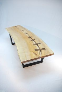 All Stitched Up Maple Slab Coffee Table by JonathanJanuary on Etsy, $1125.00