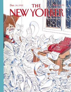 The New Yorker - Monday, December 14, 1992 - Issue # 3539 - Vol. 68 - N° 43 - Cover by : Michael Witte