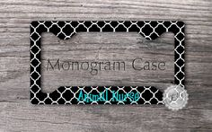 cute but with no name ...Monogrammed License plate Frame  Personalized by MonogramCase, $17.99