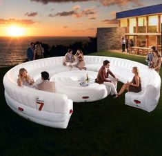The Beach7 Airlounge XL Inflates to Fulfill Your Childhood Dreams #inflatable trendhunter.com