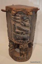Exquisite African Art - Yoruba Ceremonial Drum