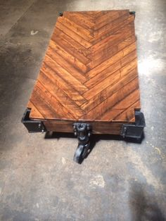 Herringbone Lineberry Industrial Factory Cart by Warehouse782, $1400.00