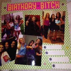 Shot book page My Best Friend's Birthday, Half Birthday, Shot Book Pages, Shots Shots Shots, I Am Awesome, Best Friends, Polaroid Film, College, Diy Crafts