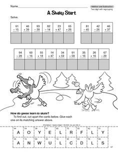 Results for 2 digit subtraction with regrouping Math Homework Help, Go Math, Learn Math, Subtraction Activities, Math Activities, Subtraction Regrouping, Multiplication, Math Games, Christmas Math Worksheets