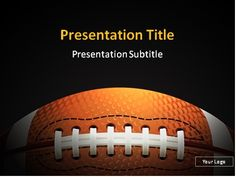 FREE American football PowerPoint template: This PowerPoint template will be a great choice for presentations on football, American football, NFL, championships, football history, team sports, sport schools, sport events, challenge, etc.