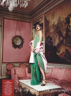 "midnight-charm: "" Cindy Kimberly photographed by Alex Bramall for Vanity Fair Stylist: Carla Aguilar """