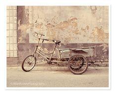 Gray Bicycle Photography / Urban City by JillianAudreyDesigns, $30.00