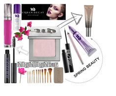 """""""Highlighter - Urban Decay"""" by willy3384 on Polyvore featuring beauty, Urban Decay, urbandecay, pinks and highlighter"""