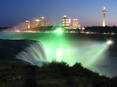 Niagra falls  You gotta go to the Canadian side too and go up in their needle....really cool!
