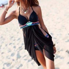Women's Push Up Swimsuit With Mesh | Swimwear & Bikini Set | Zorket http://www.allthingsvogue.com/best-bikini-bathing-suits/