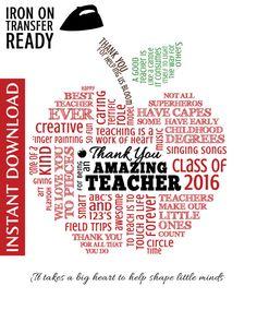 Teacher PreK Kindergarten Appreciation Word by MorethanWordsABCs