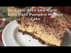 Sugar-Free Low Carb Chocolate Pumpkin Mousse Cake