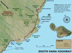 Use our highly-detailed Road to Hana maps to help you get to and enjoy only the best sights, stops, and attractions along Maui's most famous road- the Hana Highway. Hawaii Travel Guide, Maui Travel, Trip To Maui, Hawaii Vacation, Hawaii Usa, Maui Hawaii, Road To Hana Map, Living On The Road, Travel Ideas
