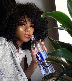 Hair and makeup Glam Makeup, Beauty Makeup, Hair Makeup, Hair Beauty, Black Girls Hairstyles, Cute Hairstyles, Curly Hair Styles, Natural Hair Styles, Black Barbie