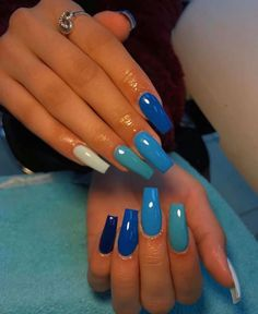 Amazing Manicure Hacks You Should Know Makeup Tutorials 25 Acrylic Nails Coffin Pink, Long Square Acrylic Nails, Simple Acrylic Nails, Summer Acrylic Nails, Multicolored Nails, Glow Nails, Fire Nails, Nagel Gel, Dream Nails