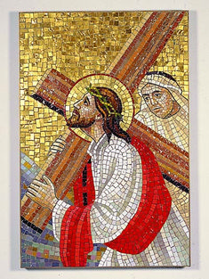 Set of 14 Stations of the Cross Religious Pictures, Religious Art, Vitromosaico Ideas, Jesus E Maria, Cross Pictures, Christian Paintings, Images Of Christ, Religion, Mosaic Portrait