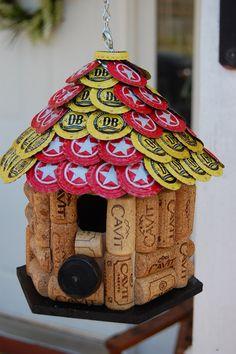 Star Hill and Devil's Backbone Cap & Wine Cork  Bird House by TikiCommander on Etsy