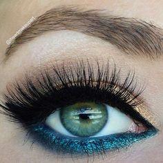 teal and gold #eye #makeup