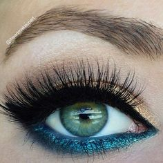 Add color to your makeup routine by using one color for the top lid and another for the bottom