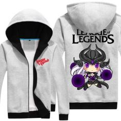 Jogo League of Legends fecha acima o hoodie para homens, mais a versão do tamanho Q Syndra