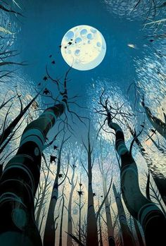 Victo Ngai, BARSK The Elephant's Graveyard, Illustration, Drawing Poster Design, Art Design, Design Color, Art Inspo, Ouvrages D'art, Art Et Illustration, Moon Art, Illustrations And Posters, Psychedelic Art