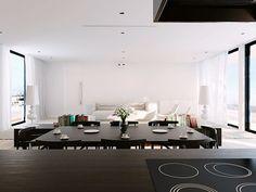 Exotische Villa Wohnzimmer Gestaltung Hohe Decke Niedrige Sessel