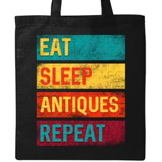 Book group members will enjoy this bibliophile themed eat sleep book club repeat quote on a Tote Bag - Black Light Weight Cotton Tote Bag.