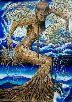 Fantasy Forest, Fantasy Art, Mother Earth, Mother Nature, Beyond Paint, Pagan Art, Visionary Art, Psychedelic Art, Tree Art