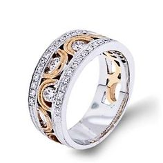 Shop online Arthurs Collection RAD-16984 Diamond Pave Set 18K - Rose Gold Womens Wedding bands  at Arthur's Jewelers. Free Shipping
