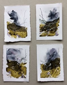 Watercolor Landscape, Abstract Watercolor, Landscape Art, Landscape Paintings, Watercolor Paintings, Abstract Art, Watercolours, Sketchbook Inspiration, Painting Inspiration