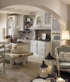 shabby chic kitchen designs – Shabby Chic Home Interiors Cottage Shabby Chic, Cocina Shabby Chic, Shabby Home, Shabby Chic Living Room, Shabby Chic Interiors, Shabby Chic Homes, Shabby Chic Decor, Tuscan Kitchen Design, Tuscany Kitchen