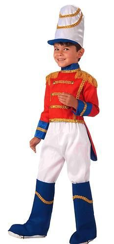 Tin Toy Soldier Child Costume Medium 8 10 Christmas Nutcracker Drummer Boy Kids | eBay
