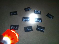 Sight word reading with flash light. So much fun in the dark. Picnic Activities, Word Reading, Flash Light, Word Work, Sight Words, Dark, Fun, Reading, Word Games