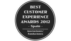 Best Customer Experience Awards, Spain 2012, Categoria Asociaciones/ Fundaciones