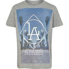 Boys grey LA blue socks t-shirt $16.00