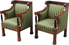 Love the color and stripes, beautiful Biedermeier chairs