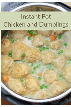 Instant Pot Chicken and Dumplings - Bring real comfort food to your table in less than 30 minutes! Instant Pot Chicken and Dumplings - Bring real comfort food to your table in less than 30 minutes! Top Recipes, Crockpot Recipes, Cooking Recipes, Healthy Recipes, Chicken Recipes, Cooking Ideas, Best Instant Pot Recipe, Instant Pot Dinner Recipes, Eating Clean